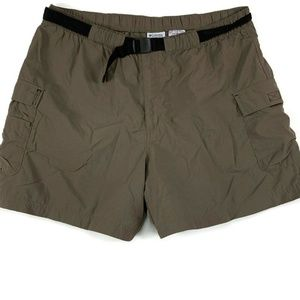 Columbia Cargo Hiking Shorts Womens Size XL Brown